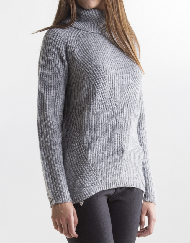Grey turtle neck sweater
