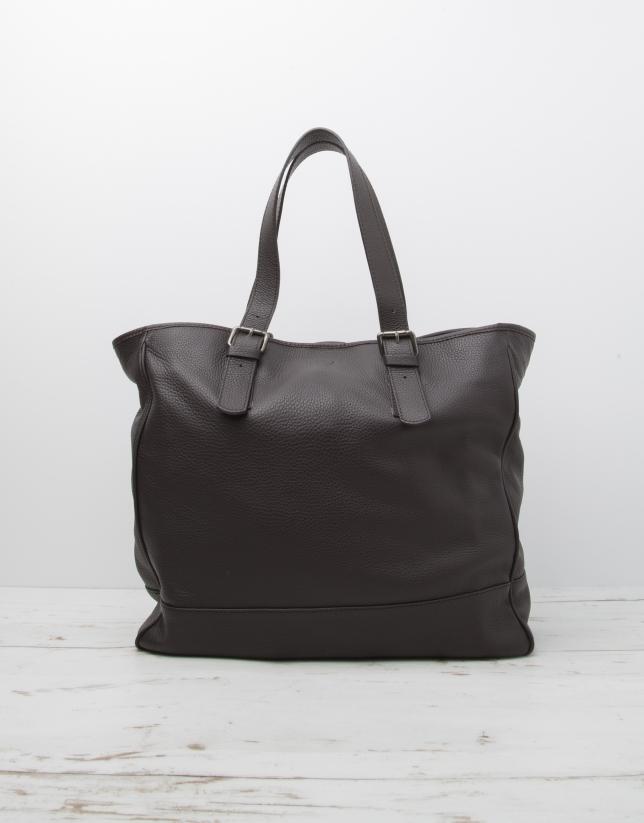 Men's brown cowhide leather bag