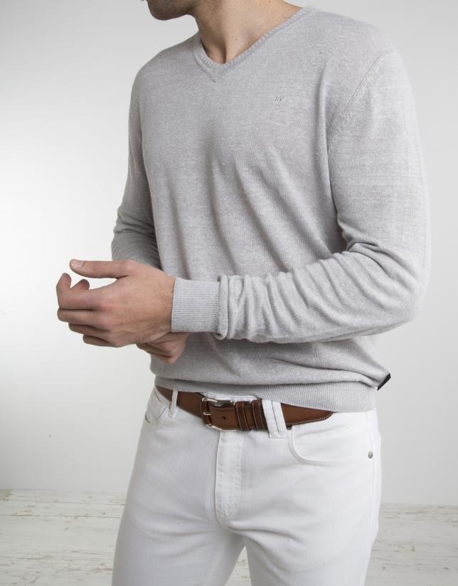 Jersey lino gris