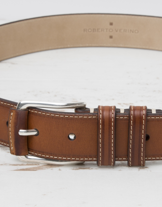 Leather colored belt