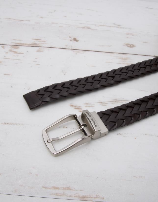 Cinturón piel trenzada