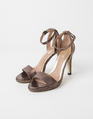 Sandale ATLANTA en cuir couleur ocre