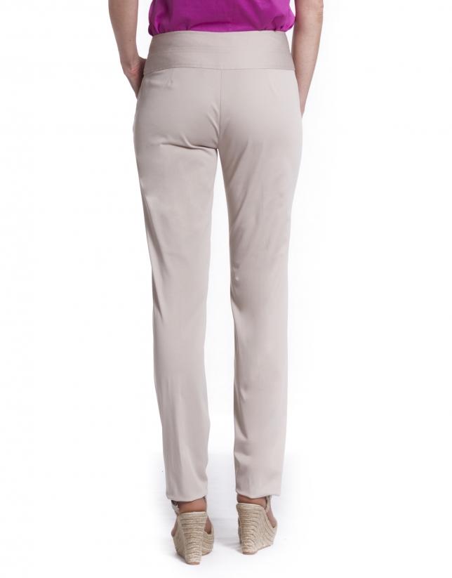 Double waistband pants