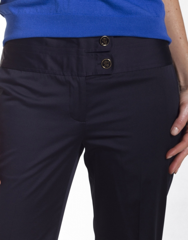 Double waistband pants