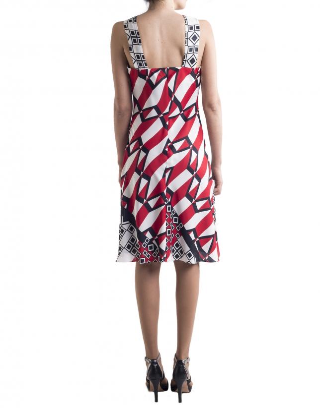 Dress with decorative neckline