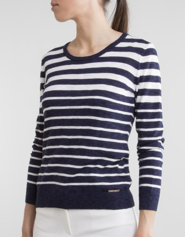 Jersey rayas marino/blanco