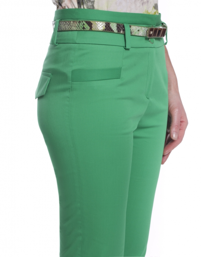 Pantalon coupe droite taille haute