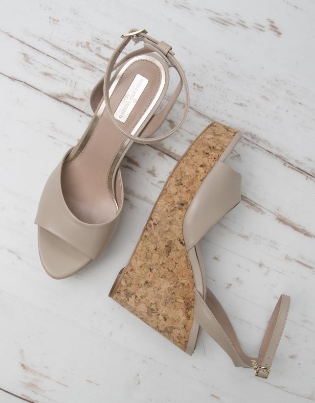 Sandale Venise couleur sable