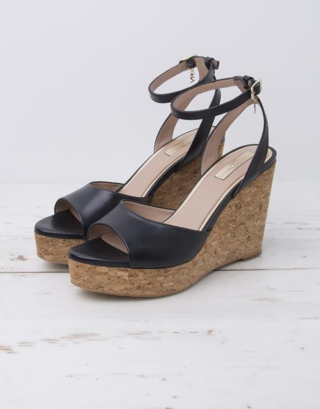 Sandale Venise bleu marine