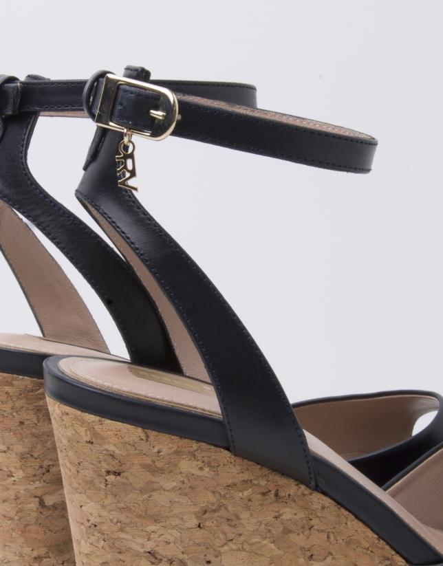 Sandalia Venecia piel color marino