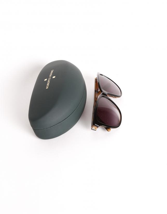 Oversize lady sunglasses in Matt Grey color