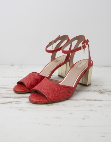 Red cowhide L.A. sandals