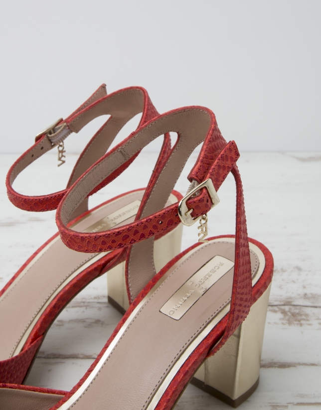 Red L.A. sandals