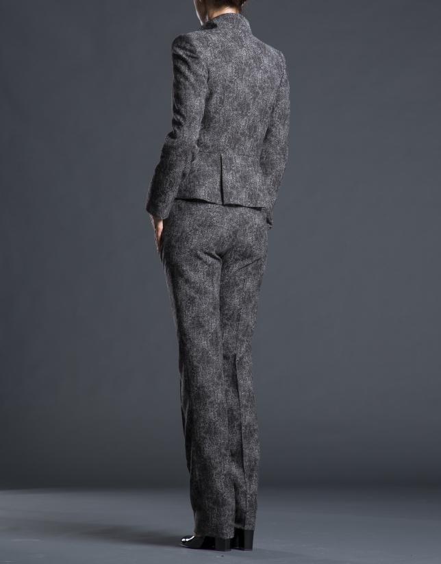 Pantalon marron fantaisie poches