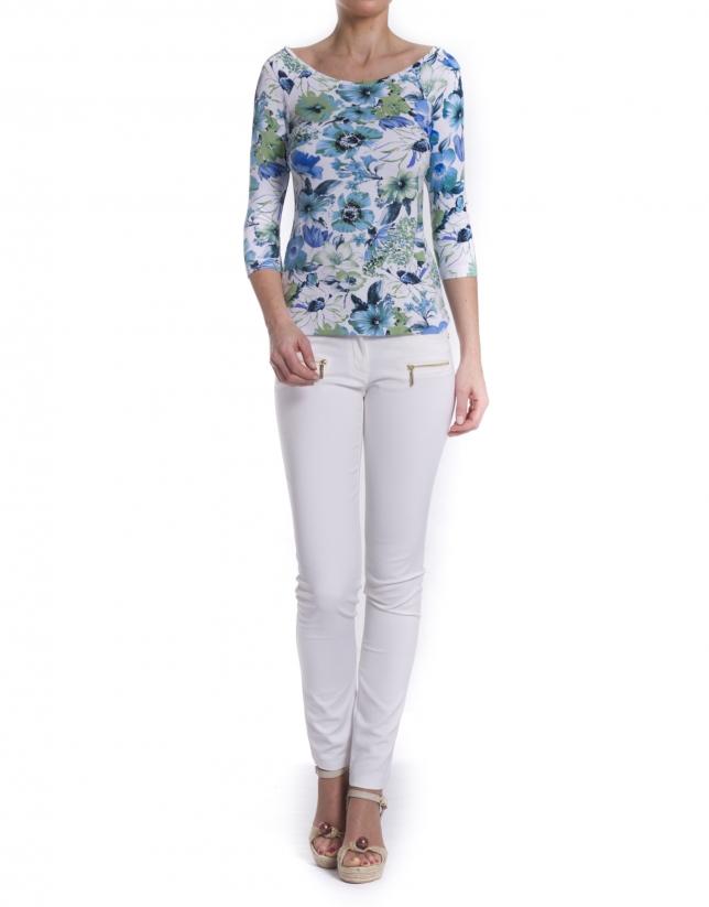 Camiseta estampada floral
