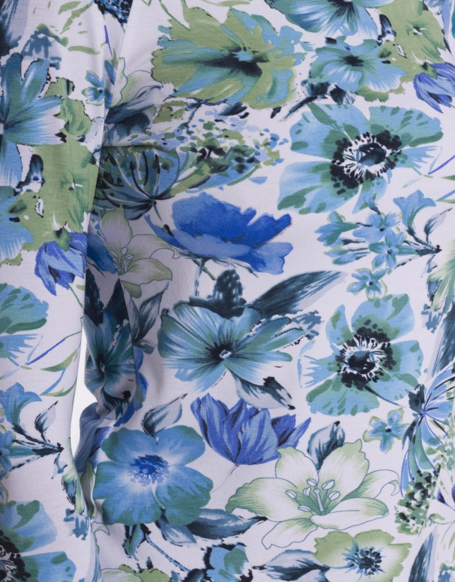 Tee-shirt à motif floral