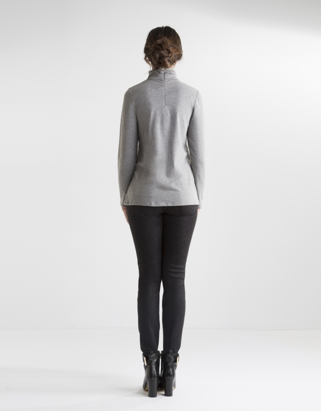 Jacquard print pants