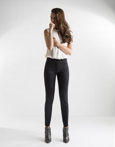 Pantalón jacquard negro