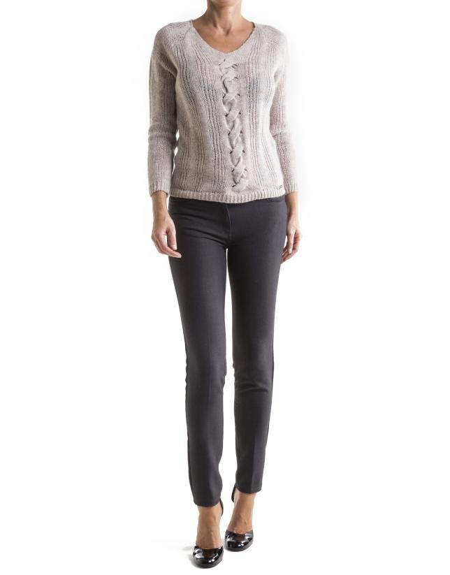 Pantalon droit gris