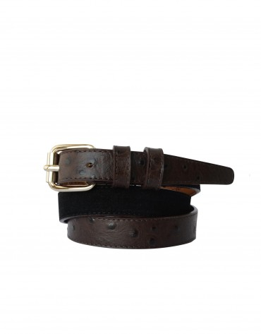 Narrow belt in black tones