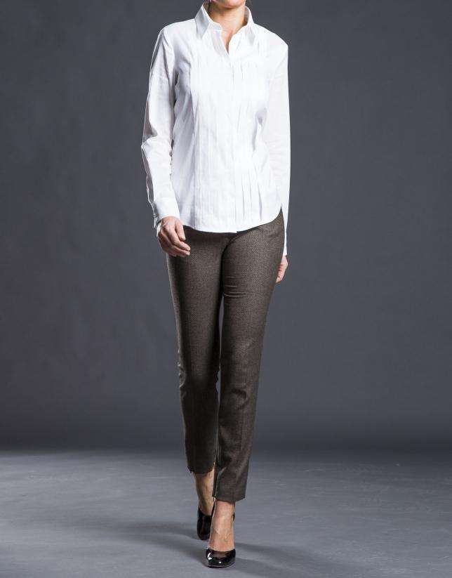 Pantalon en Jacquard marron