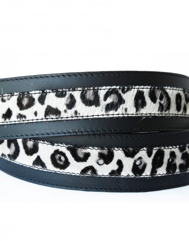Cinturón piel vaca, logo RV