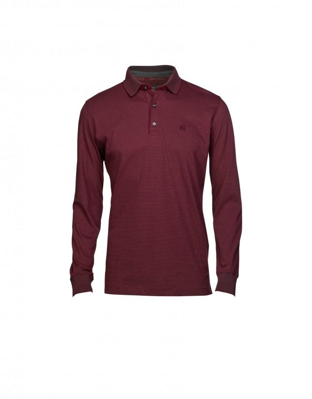 Burgundy polo shirt