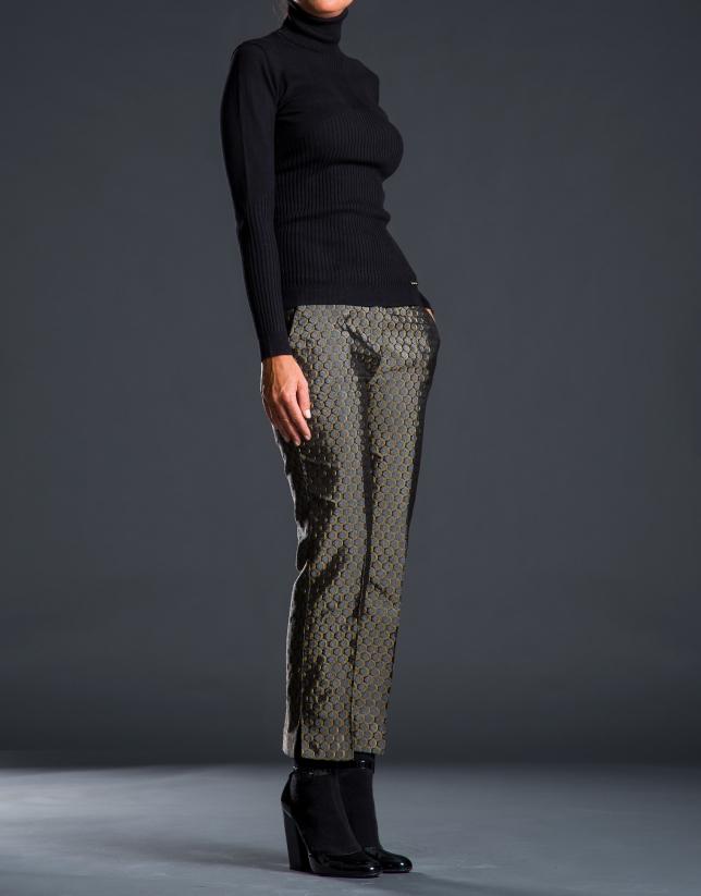 Jacquard ankle-length pants