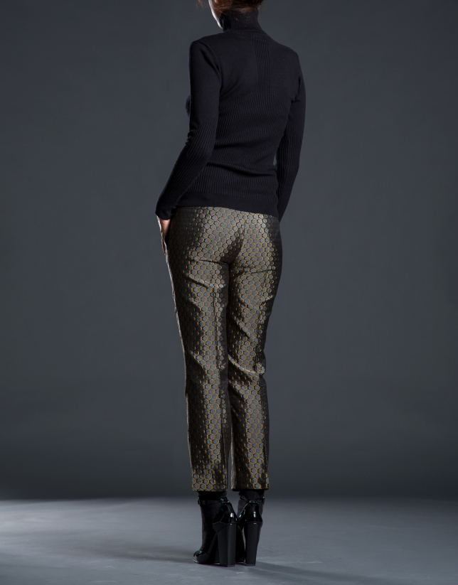 Jacquard ankle-length pants