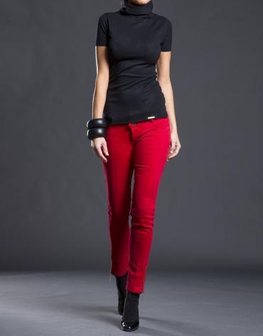 Pantalon slim avec poches rouge
