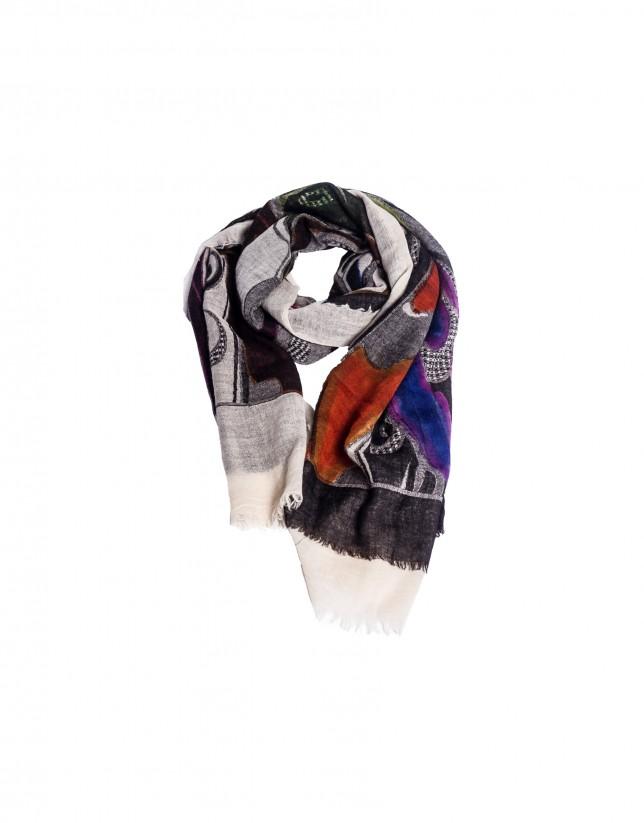 Foulard multicolor geométrico