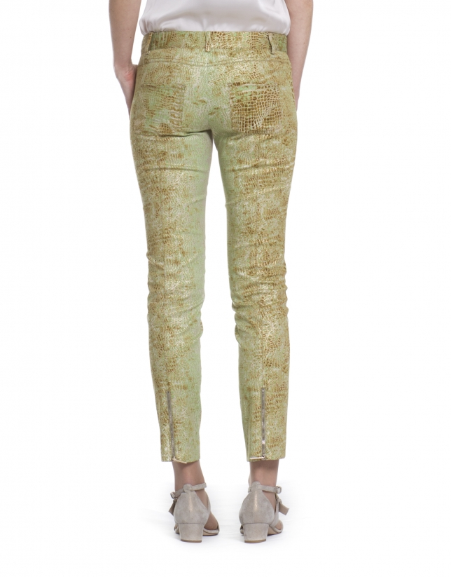 Stretch pants print animal