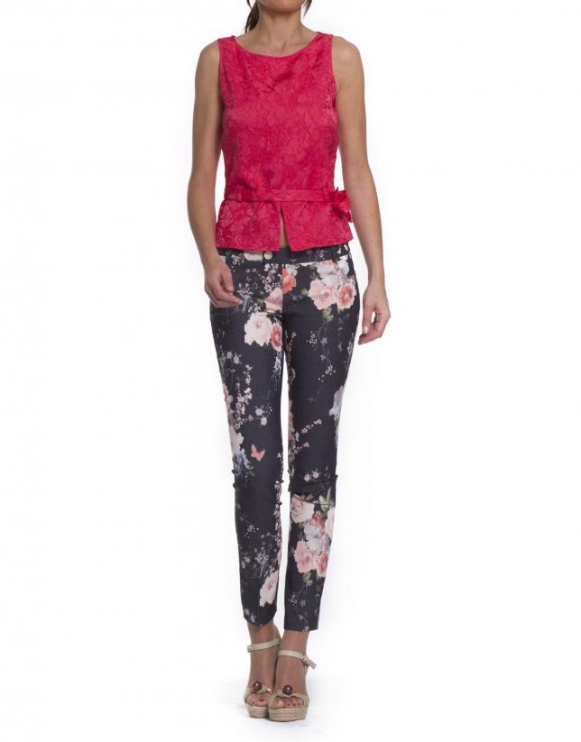 Pantalón rosas
