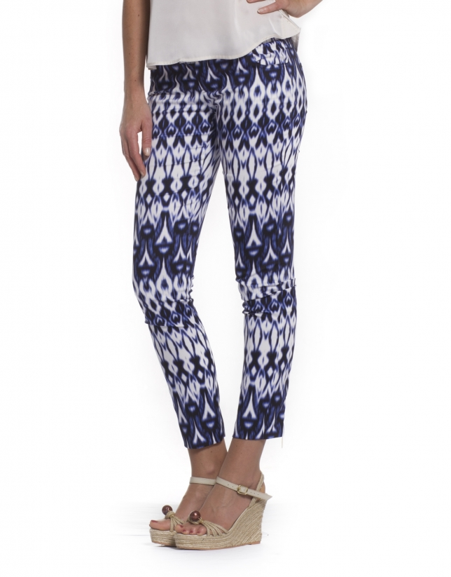 Pants geometric print