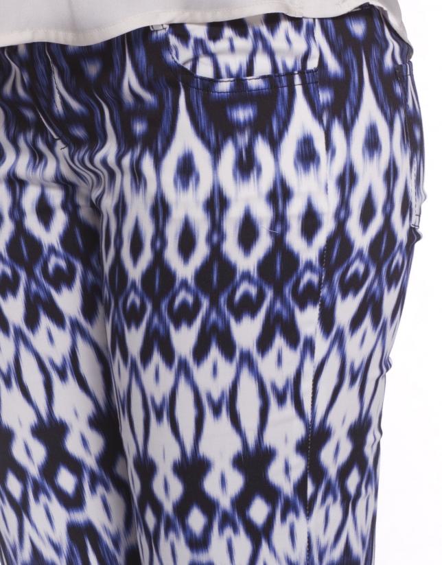 Pantalon à motifs géométriques