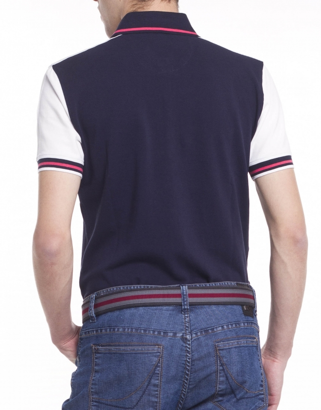 Two color polo shirt