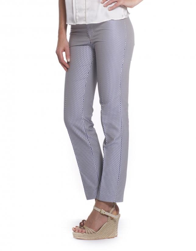 Pantalón con microdibujo