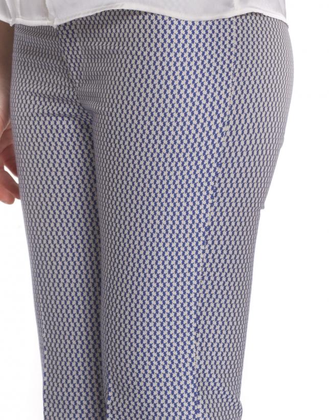 Pantalon à micromotif