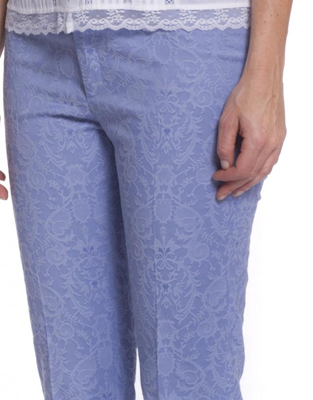Pantalón en brocado