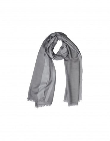 Two tone grey wool scarf.