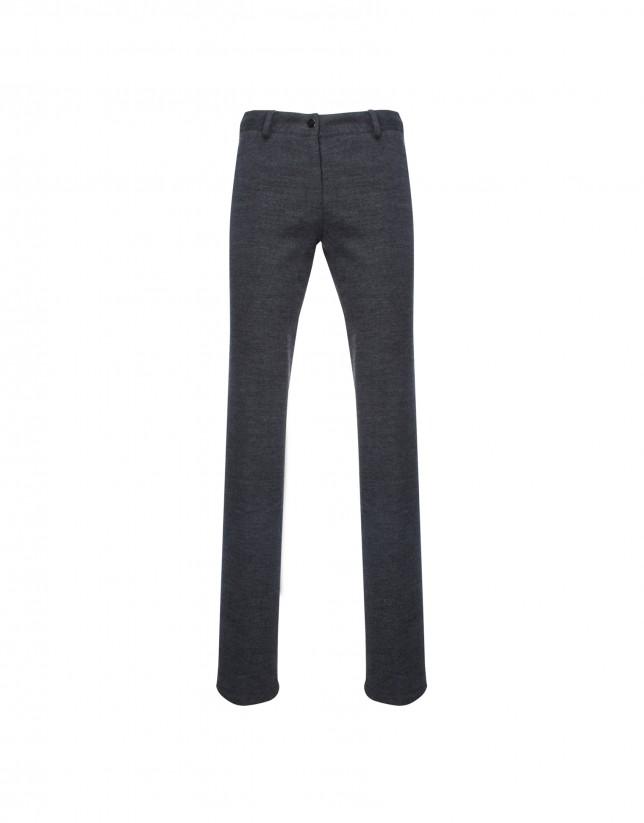 Pantalón punto gris
