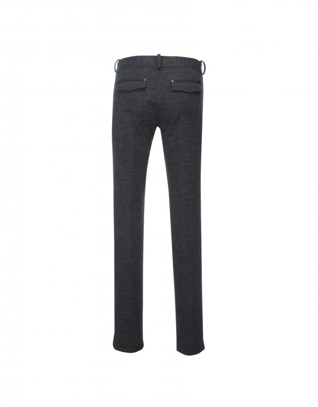 Grey knit pants
