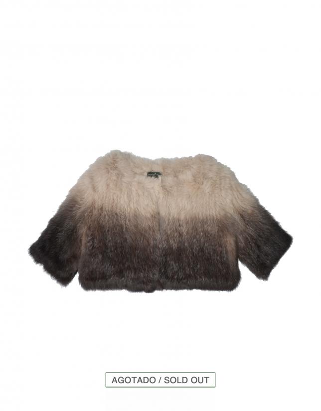 Rabbit fur short jacket