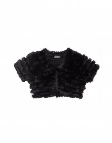 Black bolero rabbit fur