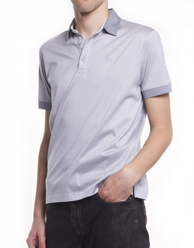 Pin-striped polo shirt