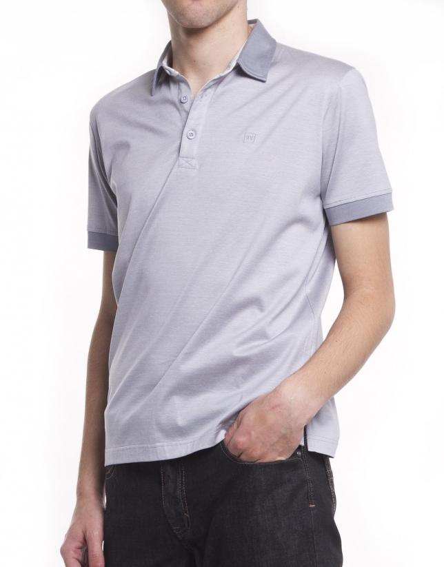 Pin-striped polo shirt