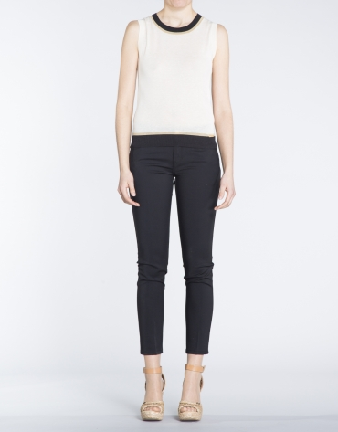 Black stretch pants with 6 pockets