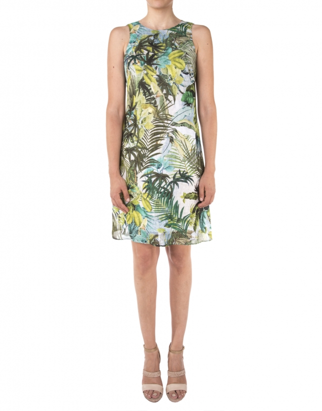 Robe à motif tropical