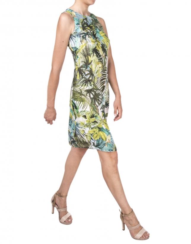 Robe à motif tropical