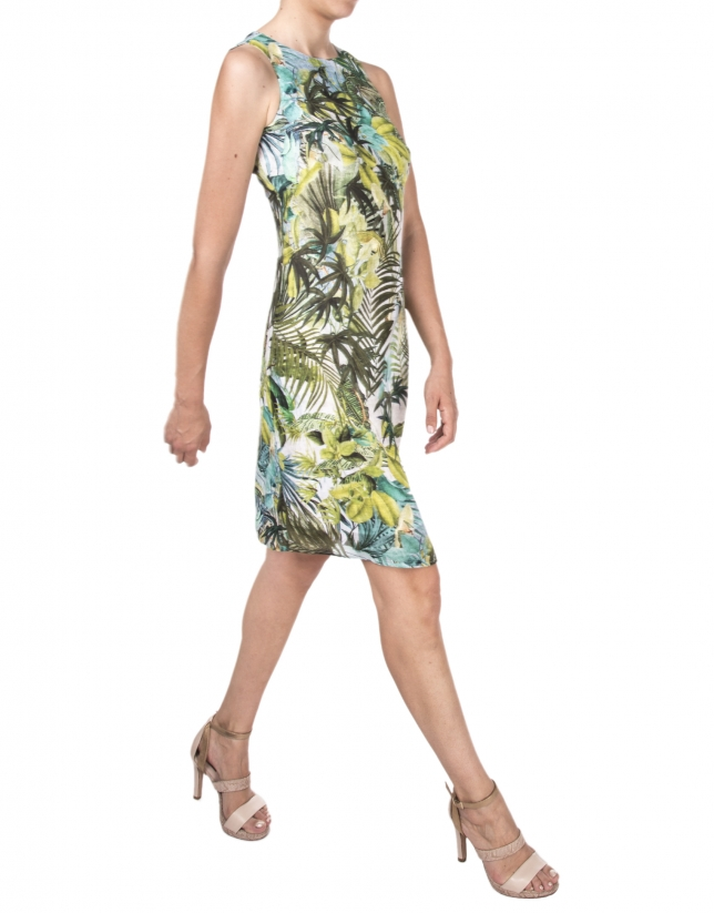 Vestido estampado tropical